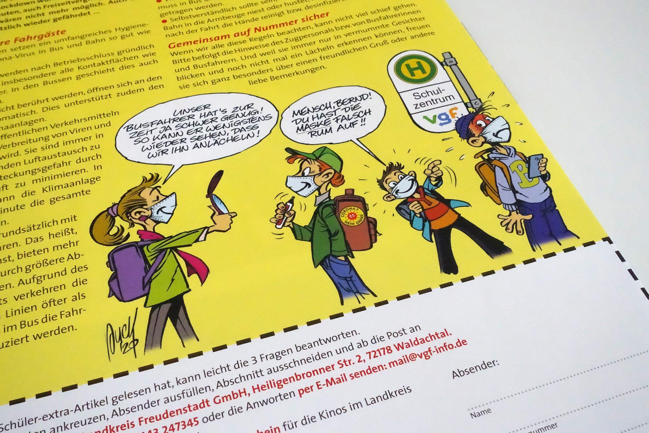 Cartoon Schülerseite wie immer von Peter Puck