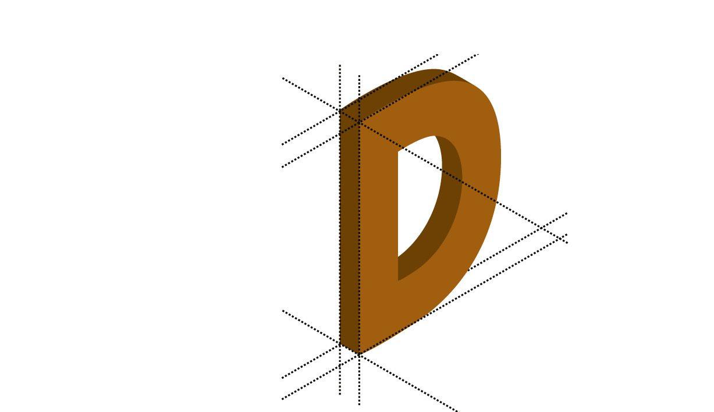 Das D wird dreidimensional