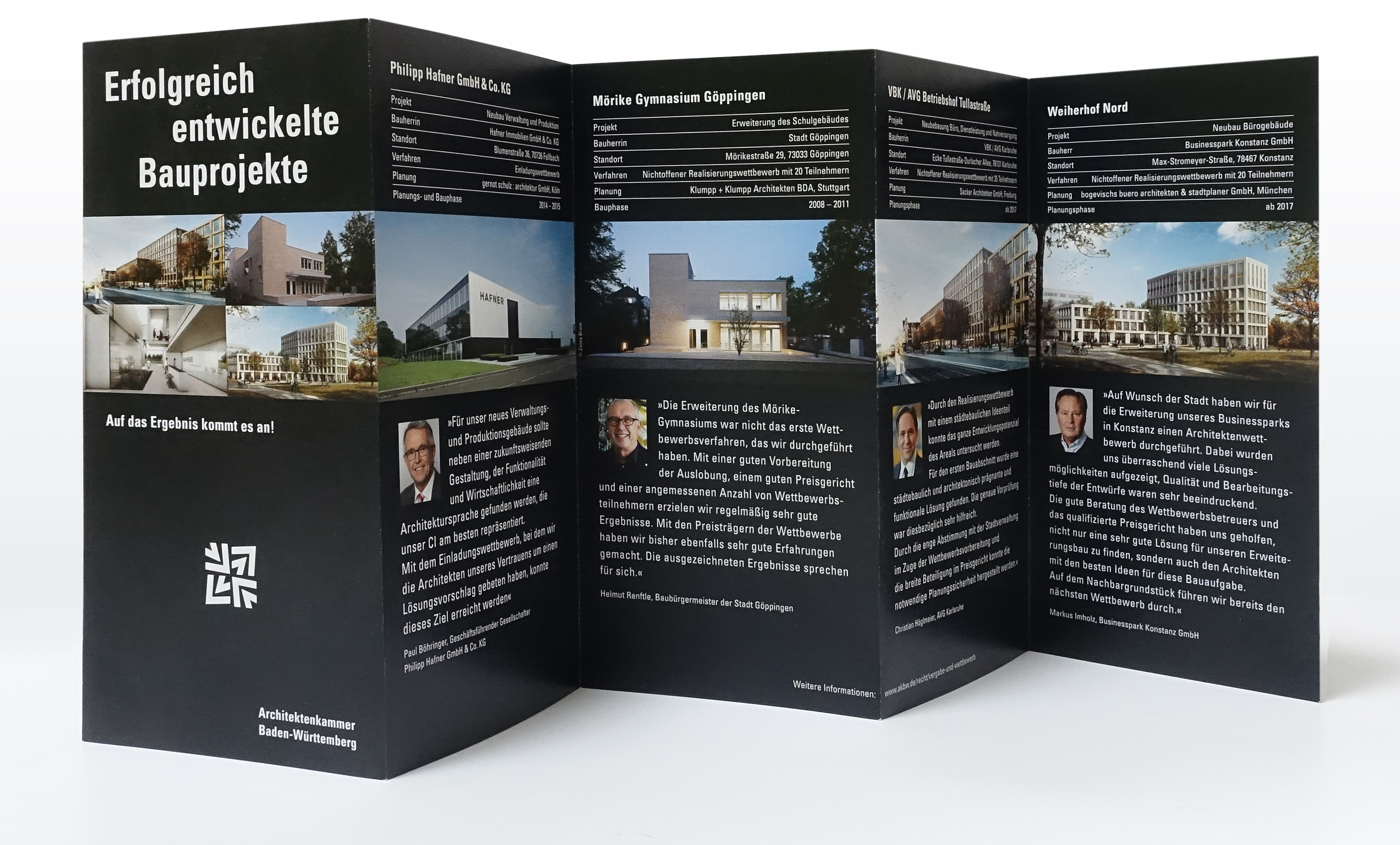 Leporello Projektentwicklung Rückseite