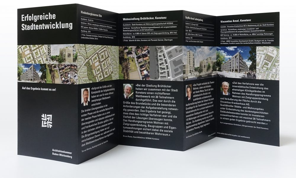 Leporello Stadtentwicklung Rückseite