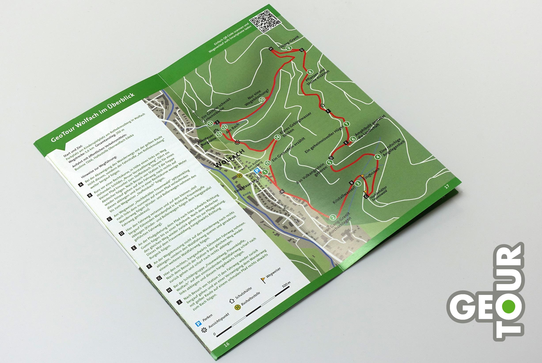… Karte mit Tourenverlauf und Wegbeschreibung
