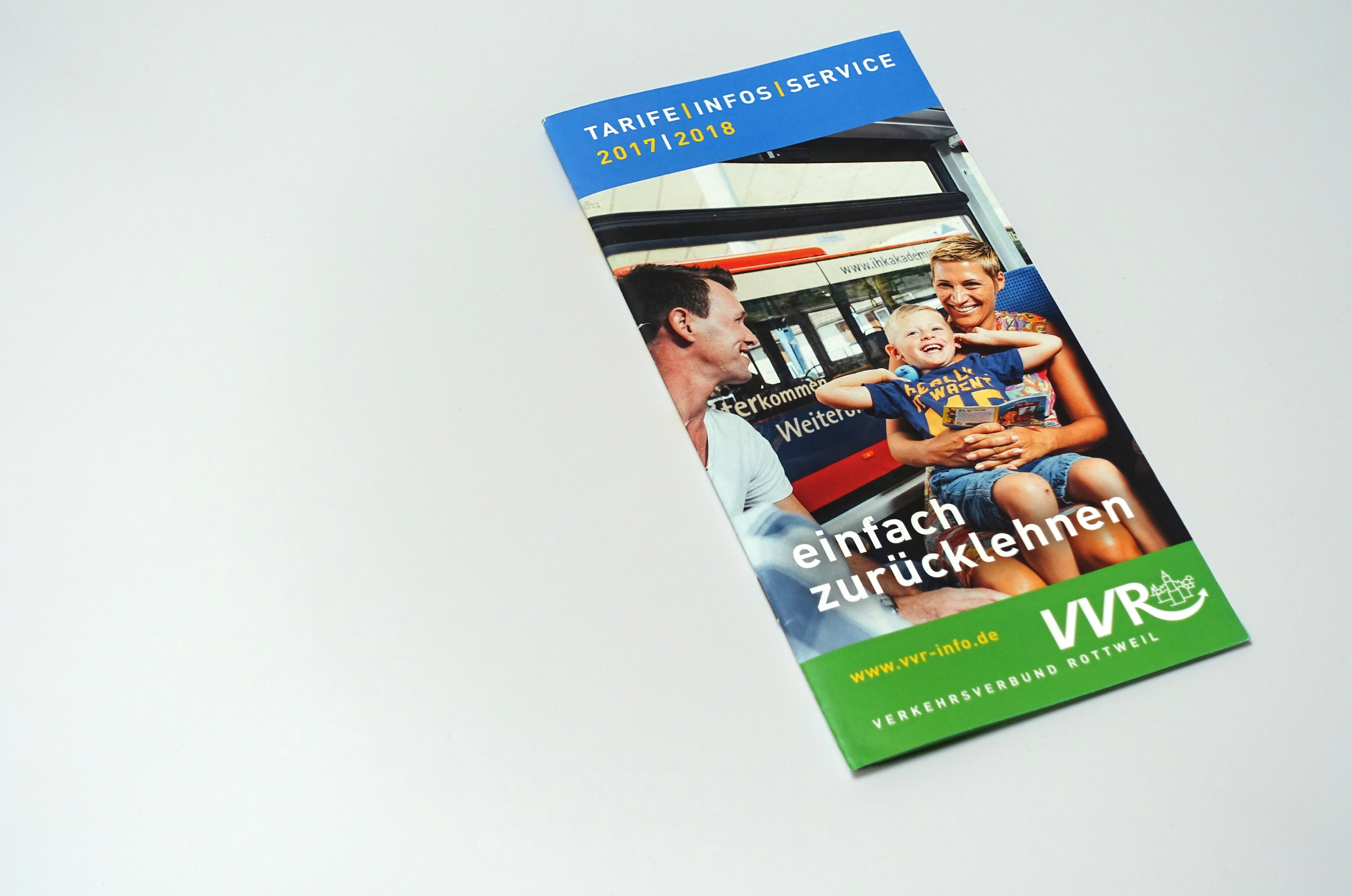 Tarifinfo-Broschüre